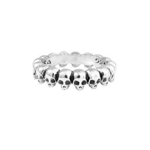 Sterling Silver Skull Infinity Band Size 10  (King Baby)
