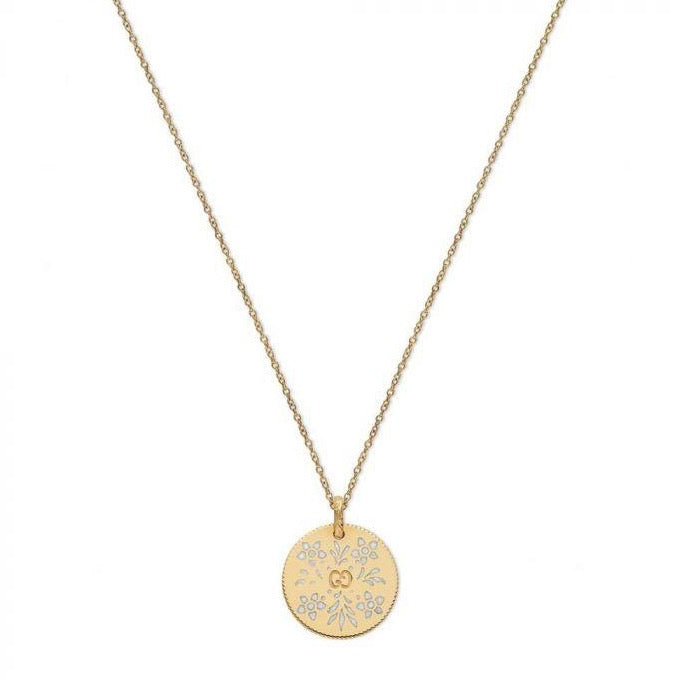 Icon Enamel Blooms Necklace (18k Yellow Gold)