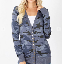Load image into Gallery viewer, Camo Cardigan