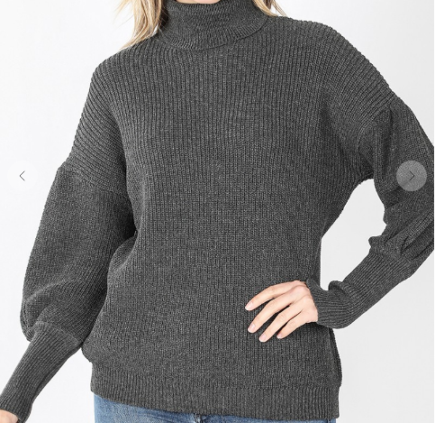 High Neck Knit Sweater