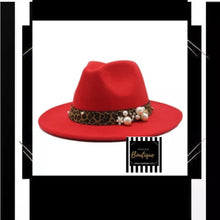 Load image into Gallery viewer, Leopard Trim Fedora
