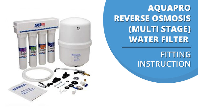 Reverse Osmosis Multi Stage Water Filter Fitting Instruction