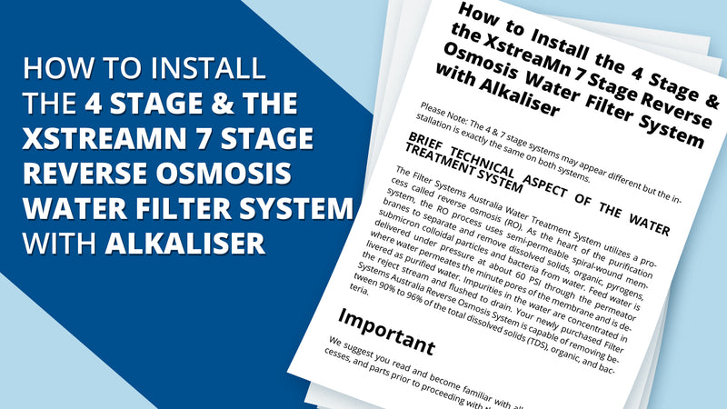 How to Install XstreaMn 7 Stage Reverse Osmosis Water Filter System with Alkaliser