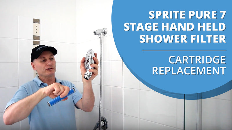How to replace the cartridge in your Sprite Shower Pure 7 Stage Hand Held Shower Filter