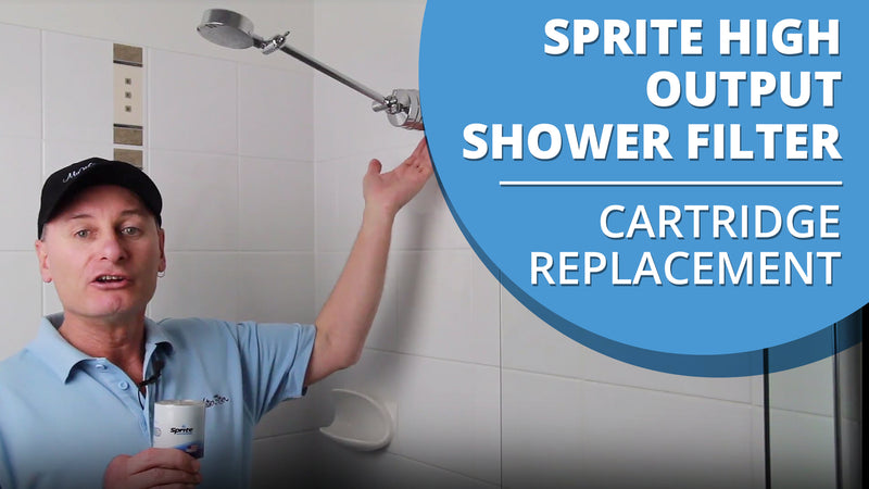 How to replace the Sprite High Output Shower Filter Cartridge