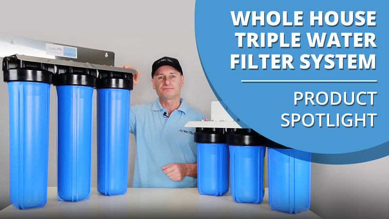 [VIDEO] Whole House Big Blue High Flow Triple Water Filter System - Product Spotlight