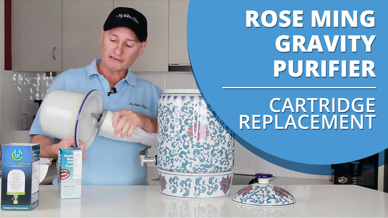 [VIDEO] How to change the cartridge in your Rose Ming Porcelain Water Purifier with Ceramic Filter Candle