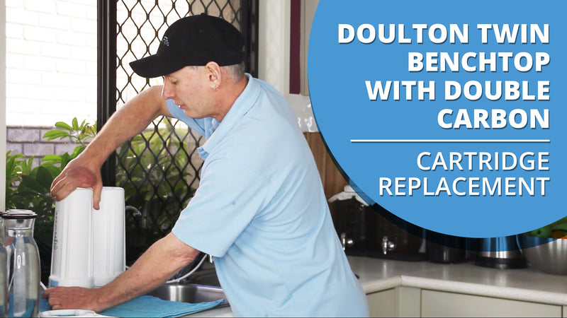 [VIDEO] How to change the cartridges in your Doulton Ultracarb Twin Benchtop Water Filter with Double Carbon