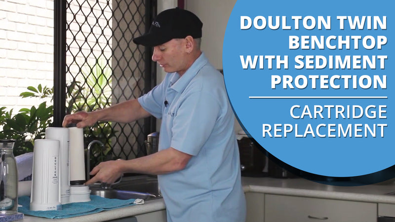 [VIDEO] How to change the cartridges in your Doulton Ultracarb Twin Benchtop Filter w/ Sediment Protection