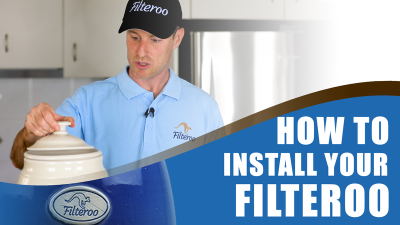 FILTEROO Gravity Fed Stoneware Water Filter with Ceramic/Carbon Cartridge - Installation Instruction