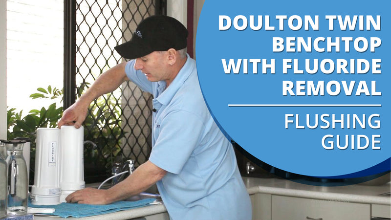 "[VIDEO] How to flush your Doulton Ultracarb 0.5 Micron 10"" Twin Benchtop City Water Filter with Fluoride Removal"