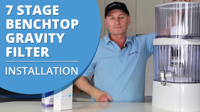 [VIDEO] How to install your 7 stage Multi Use pH Elevation Benchtop Gravity Water Filter