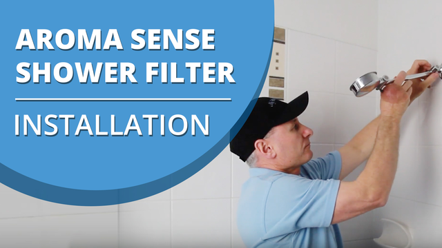 [VIDEO] How to install an Aroma Sense Q Vitamin C Shower Filter Shower Head with Hose and Bracket