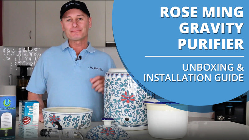 [VIDEO] Rose Ming Porcelain Water Purifier with Ceramic Filter Candle - Unboxing & Installation Video