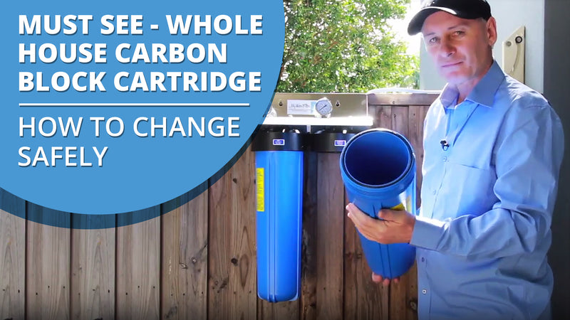 [VIDEO] How to safely change your Whole House Carbon Block Water Filter Cartridge to ensure it does not damage your water filter or water filter cartridge - MUST SEE