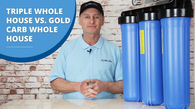 [VIDEO] Water Filter Comparison - Triple Whole House Water Filter Vs. Gold Carb Whole House Water Filter