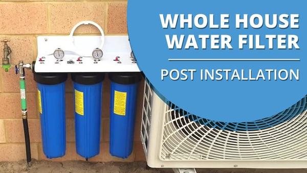 [VIDEO] Whole House Triple Big Blue Water Filter Installed Video