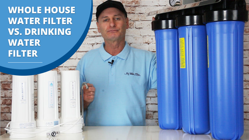 [VIDEO] Water Filter Comparison - Whole House Water Filter Vs. Drinking Water Filter