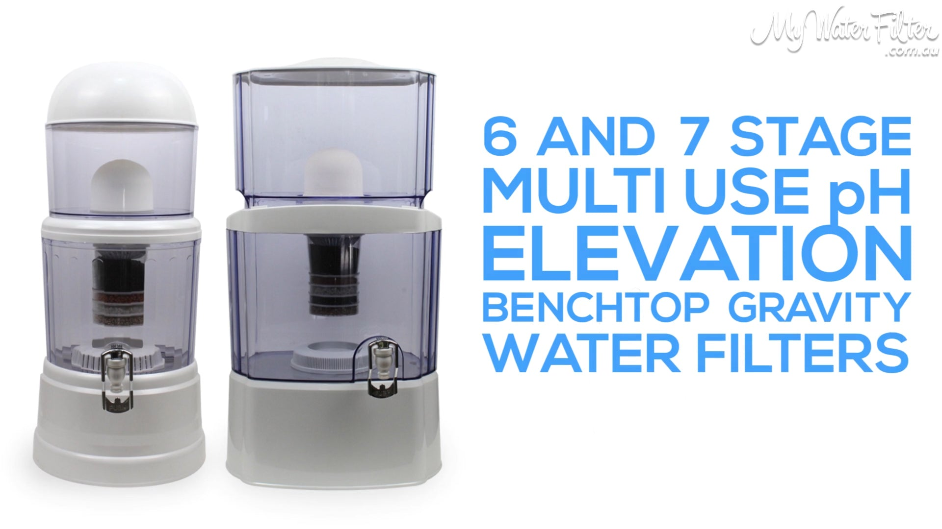 6 an 7 stage multi use pg elevation benchtop gravity water filters