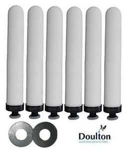 Doulton Ultracarb 0.5 Micron Slimline Ceramic Water Filter Replacement Candles