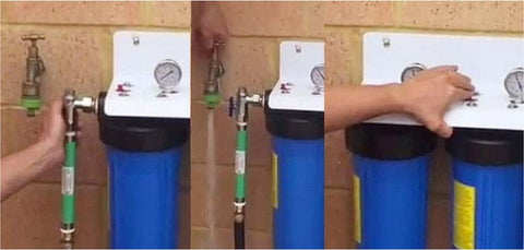 Open Tap after Housing is installed