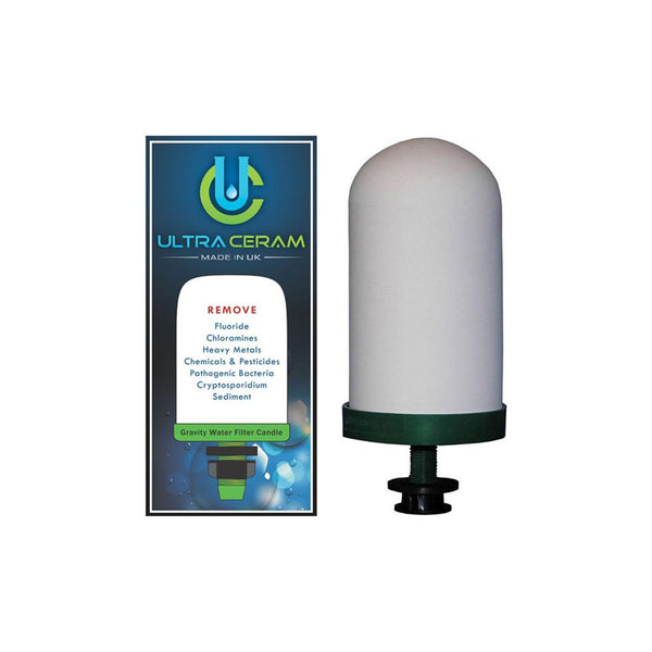 Ultraceram cartridge for the  Multi Use pH Elevation Benchtop Gravity Water Filter