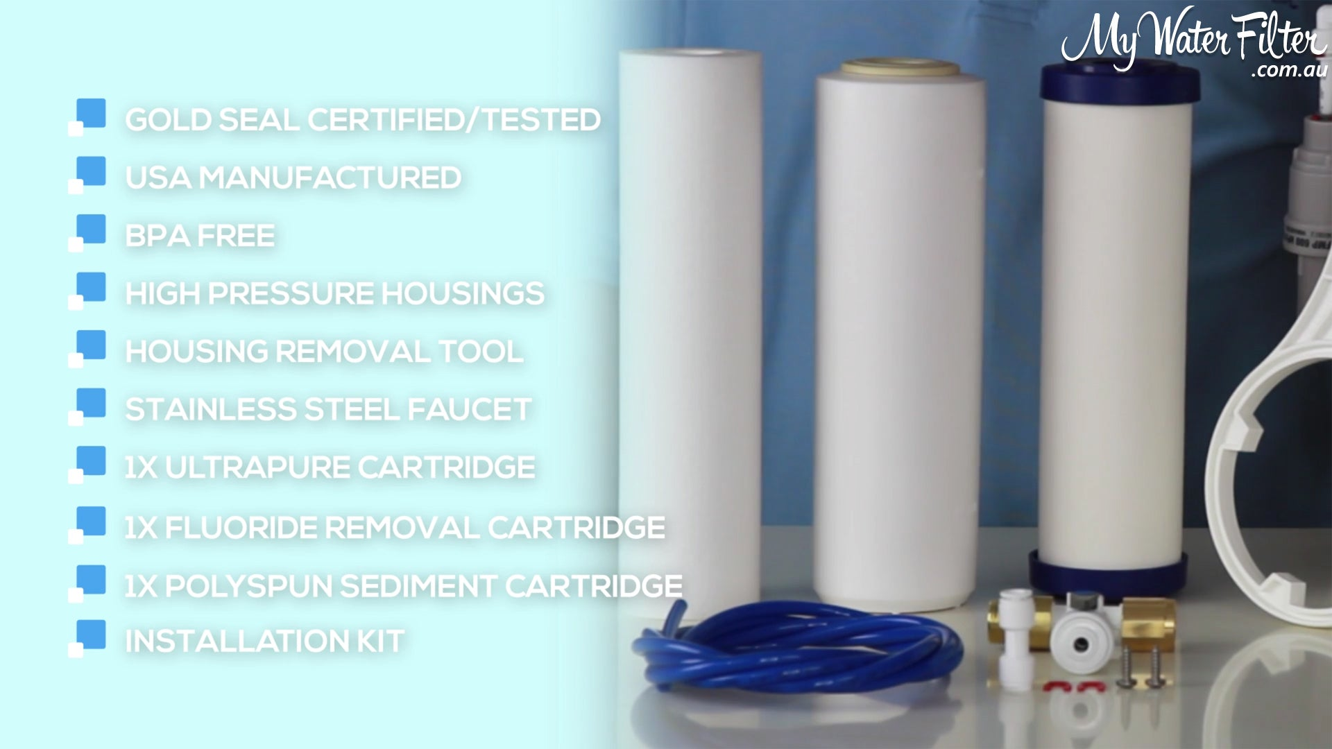 Ultrapure Ceramic Under Sink Water Filter Inclusions