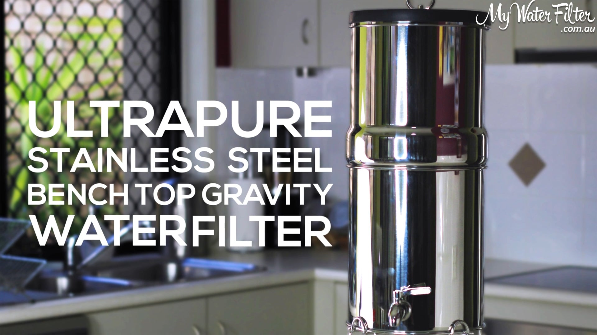 Ultrapure Stainless Steel Gravity Water Filter Title
