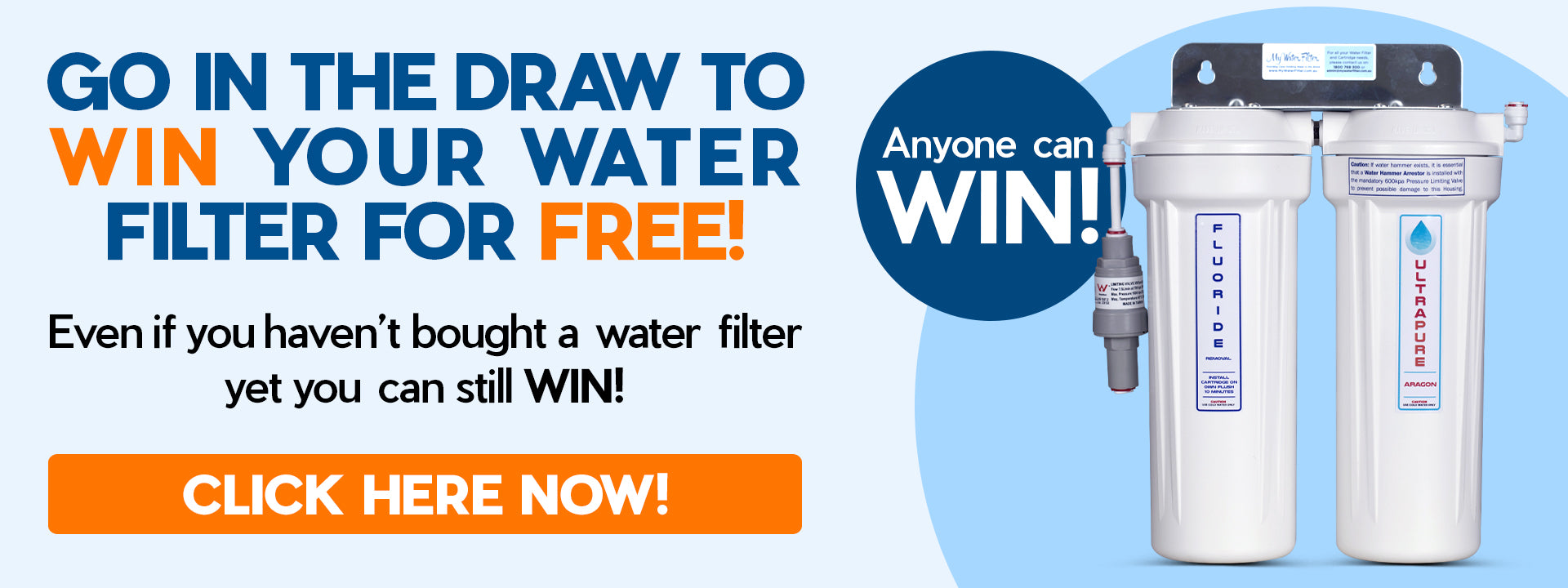 Win a Water Filter for Free Banner
