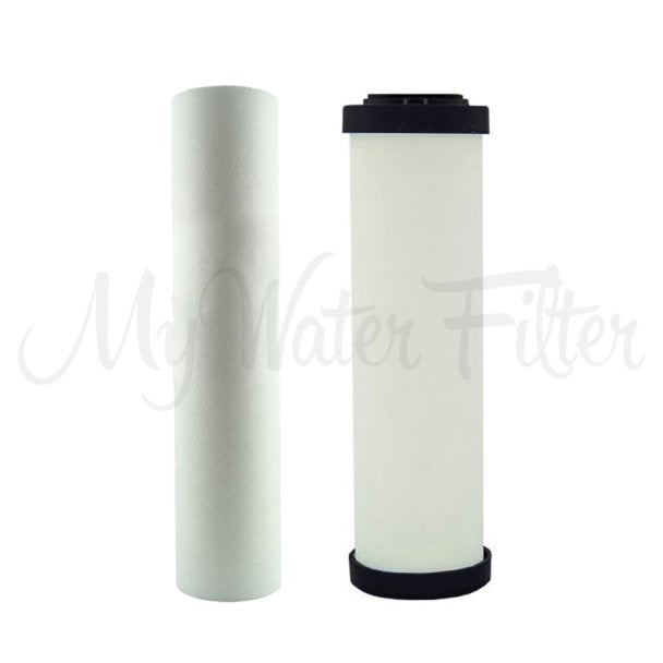 "Replacement Cartridge Pack for Doulton Ultracarb 0.5 Micron 10"" Twin Benchtop-Under Sink Water Filter with Sediment Removal"