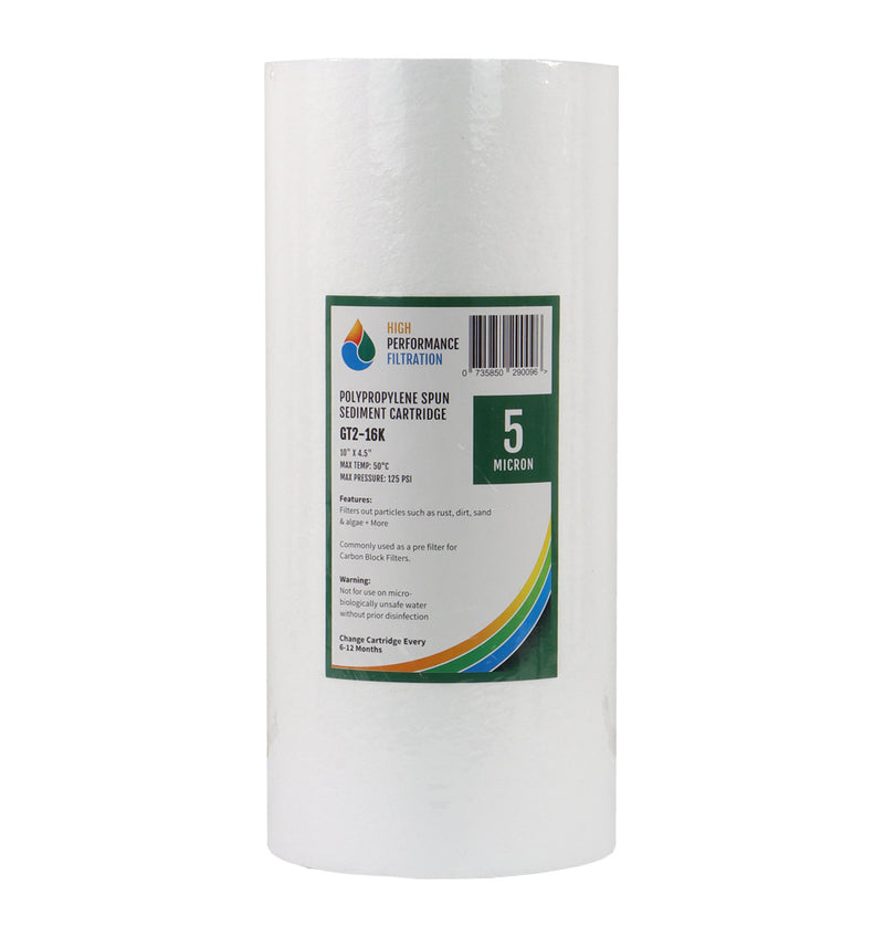 "HPF Polyspun Sediment Whole House Water Filter Replacement Cartridge 10"" x 4.5"""