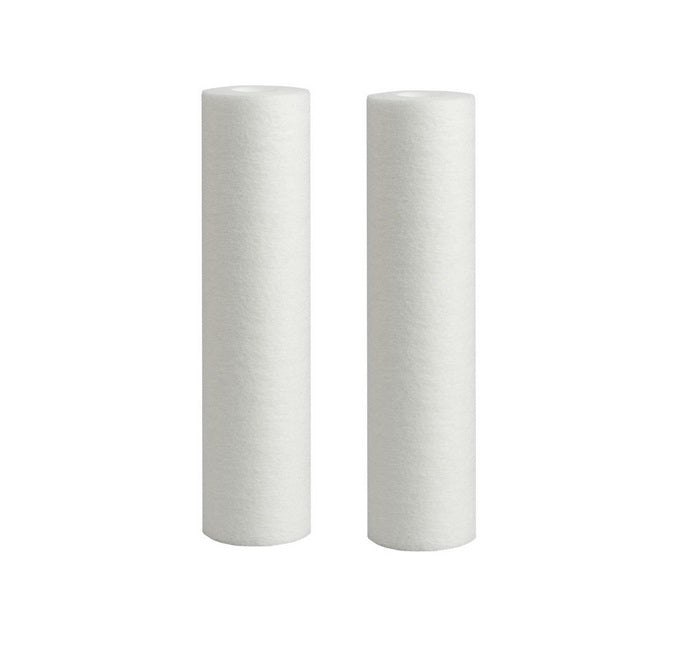 "1 Micron Polyspun Sediment Water Filter Replacement Cartridge 10"" x 2.5"" - 2 Packs"