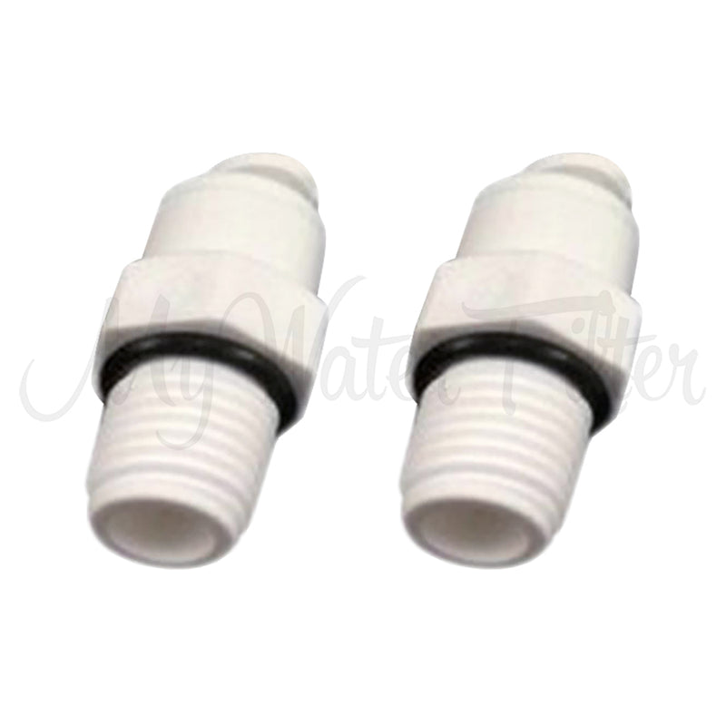 2 x Straight Quick Connectors 14 Male Thread to 14 Tube with watermark