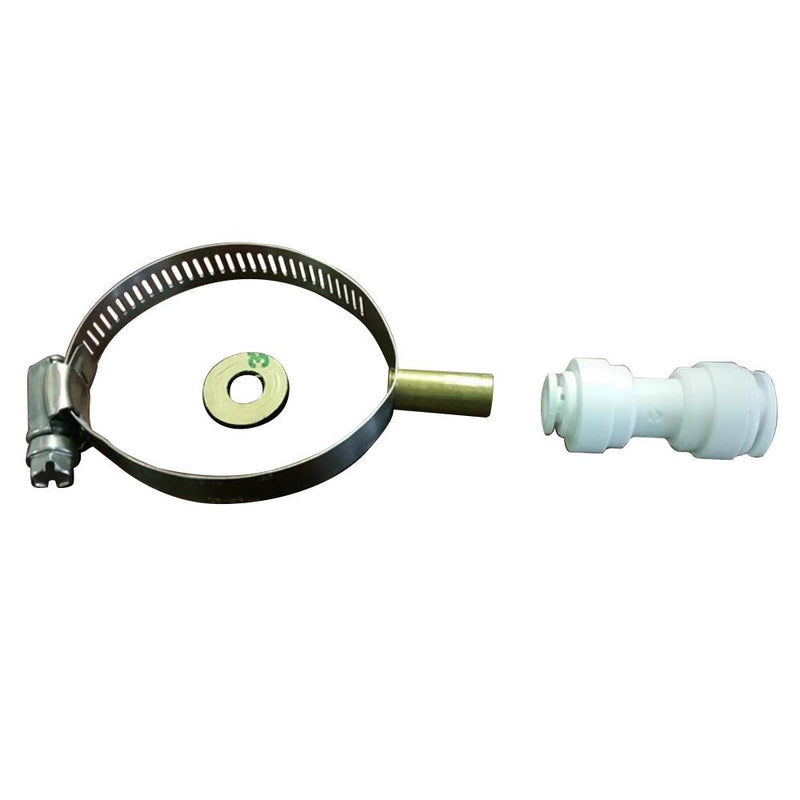 "50mm Drain Clamp with 1-4"" Quick Connect Fitting to suit Reverse Osmosis Water Filter Systems"