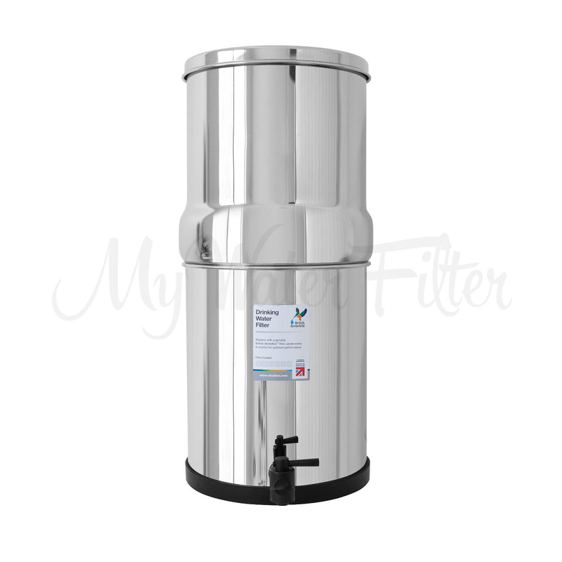 Doulton British Berkefeld 16L Stainless Steel Drinking Water Gravity Filter with watermark