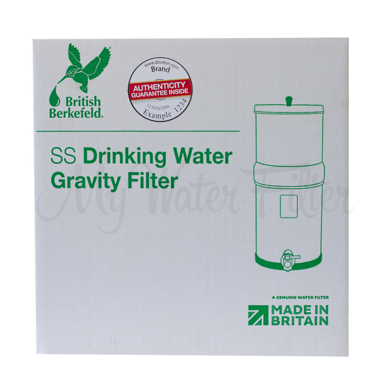 Doulton British Berkefeld 16L Stainless Steel Drinking Water Gravity Filter box 1