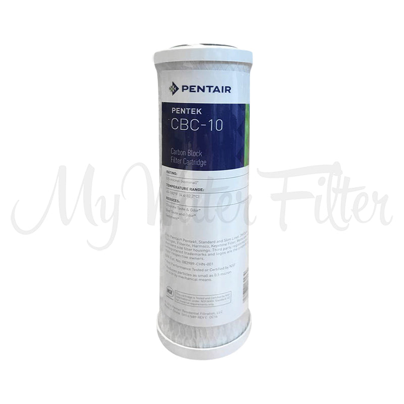 Pentek CBC-10 0.5 Micron Carbon Block Water Filter Replacement Cartridge 10 x 2.5 with watermark