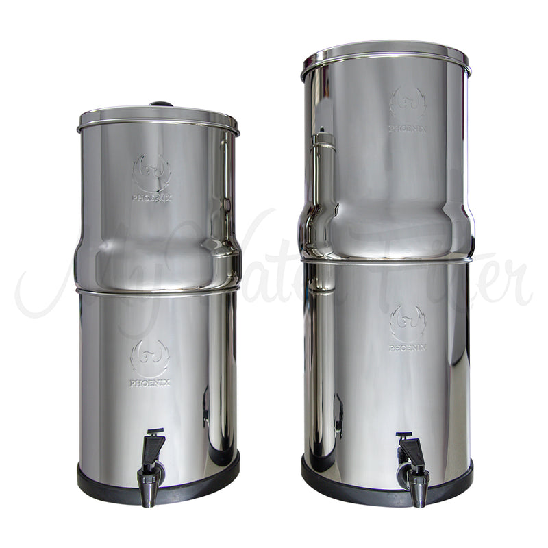 Phoenix Stainless Steel Gravity Water Filters with watermark