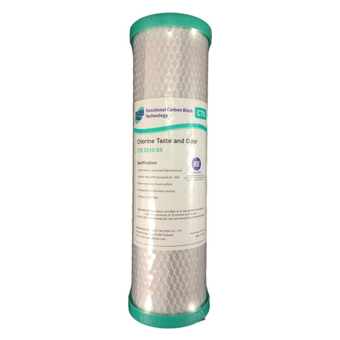 "Pure CTO 5 Micron Carbon Block Water Filter Replacement Cartridge 10"" x 2.5"""
