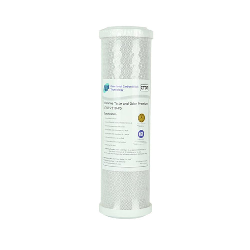 "Pure CTOP 0.5 Micron Carbon Block Water Filter Replacement Cartridge 10"" x 2.5"""
