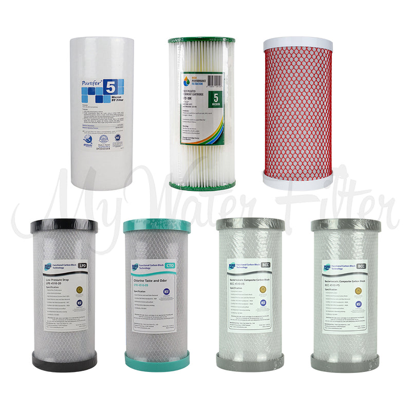 "Replacement Cartridge Pack for MWF 10"" x 4.5"" Single Stage Big Blue Water Filter System with watermark"