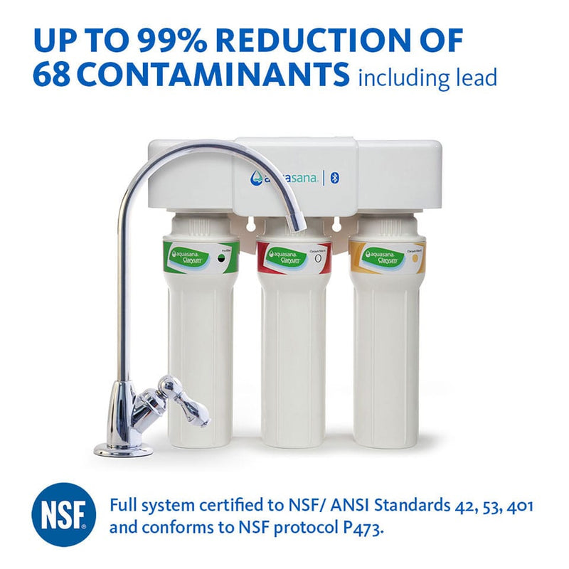 Aquasana Max Flow 3 Stage Under Counter Drinking Water Filter (AQ-5300+) Complete with Australian Fittings