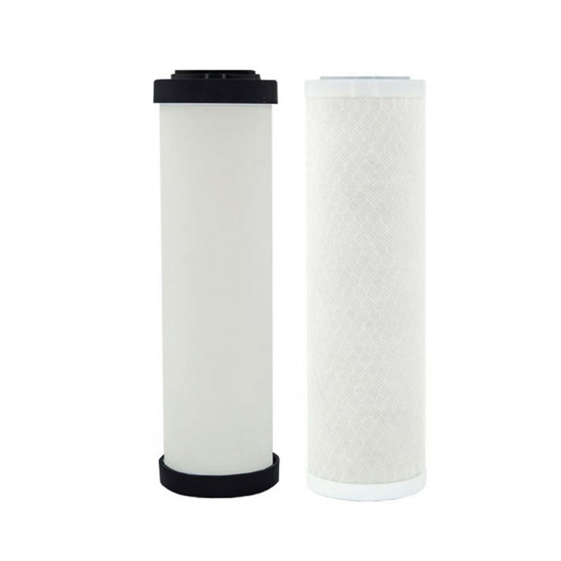 "Replacement Cartridge Pack for Doulton Ultracarb 0.5 Micron 10"" Twin Benchtop-Under Sink Water Filter with Double Carbon"