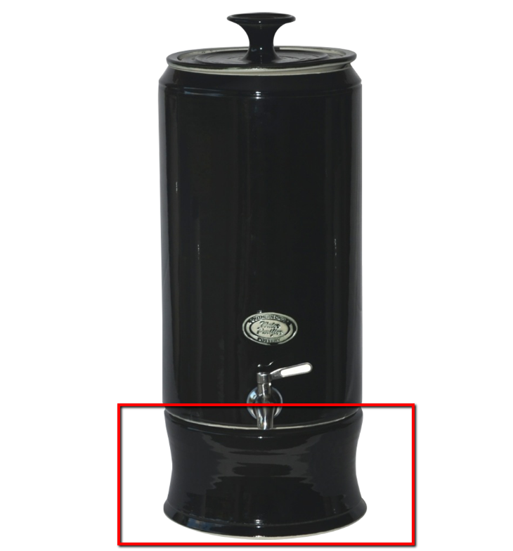 Base to suit Ultra Slim 10 Litre Gravity Fed Ceramic Stoneware Water Filter