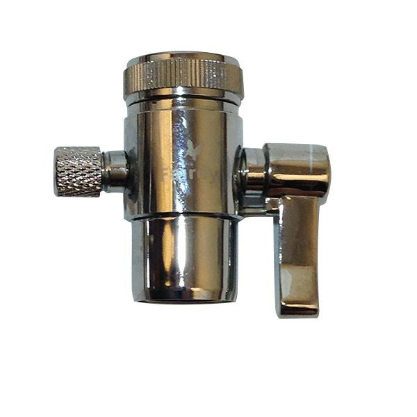 "Benchtop Water Filter Diverter Valve 1-4"" Brass"