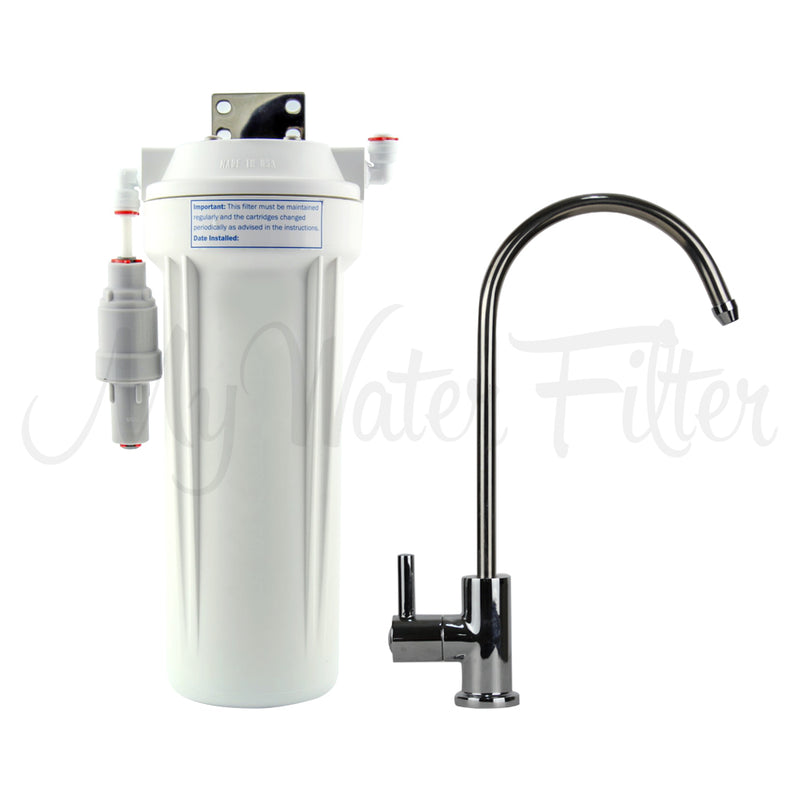 "Doulton Ultracarb 0.5 Micron 10"" Single Stage Under Sink Water Filter System"