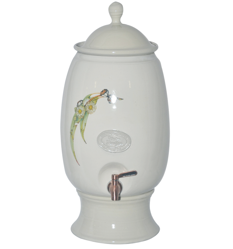 12 Litre Australian Flora Gravity Fed Ceramic Stoneware Water Filter with Doulton Super Sterasyl
