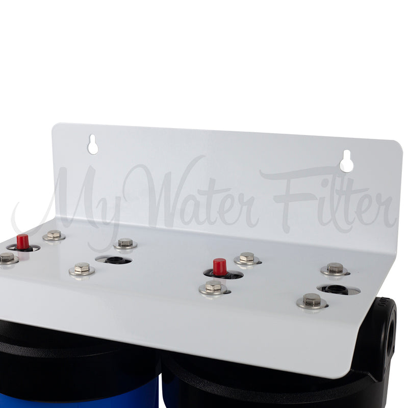 "MWF 20"" x 4.5"" Twin Big Blue Whole House Rain Water Tank Water Filter System with Aragon"