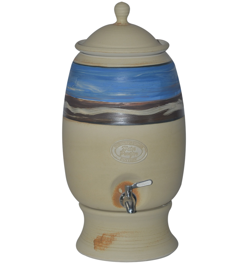 12 Litre Gravity Fed Ceramic Stoneware Water Filter with Doulton Super Sterasyl