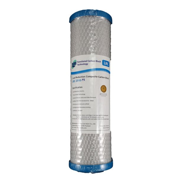 "Pure LRC 0.5 Micron Heavy Metal  & Lead Reduction Carbon Block Water Filter Replacement Cartridge 10"" x 2.5"""